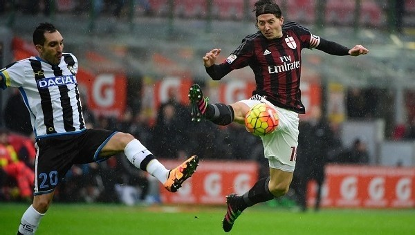 Udinese'den Milan'a çelme
