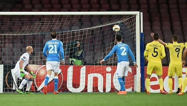 Villarreal, Napoli deplasmanında güldü