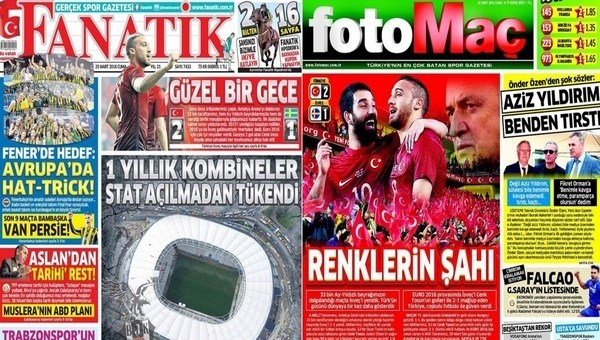 Gazetelerde günün manşetleri (25 Mart 2016)