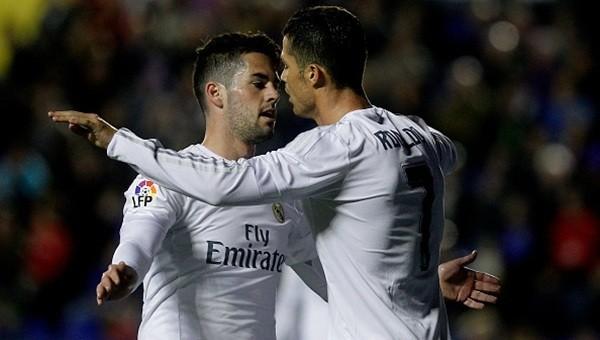 Real Madrid Levante deplasmanında kazandı