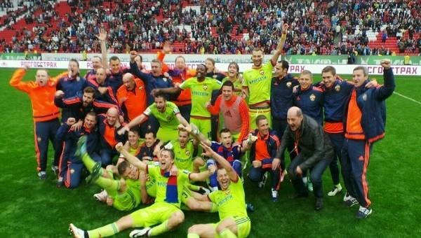 Rusya'da CSKA Moskova şampiyon