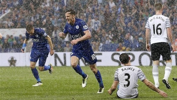 Şampiyon Leicester City, golcüsü Vardy ile kazandı