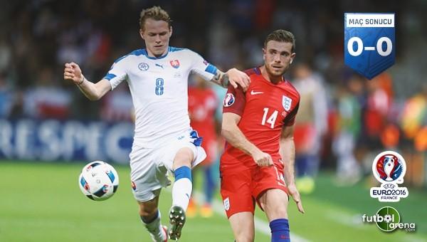 İngiltere, Slovakya'yı geçemedi
