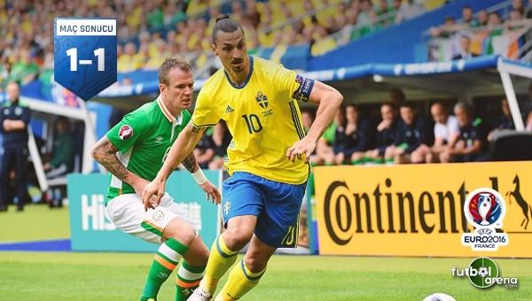 İrlanda ile İsveç yenişemedi