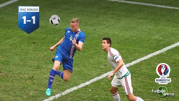 İzlanda ile Macaristan yenişemedi