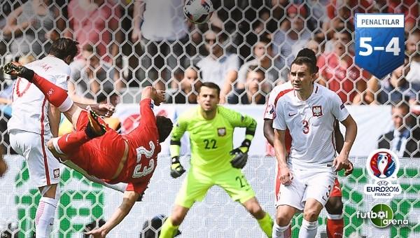 Polonya, İsviçre'yi penaltılarla devirdi