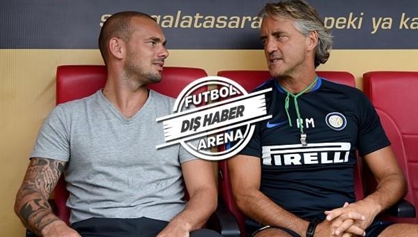 Sneijder'den Mancini'ye sürpriz telefon