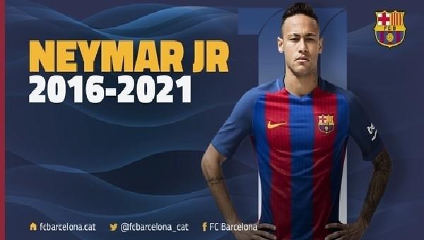 Neymar'ın sözleşmesi uzatıldı
