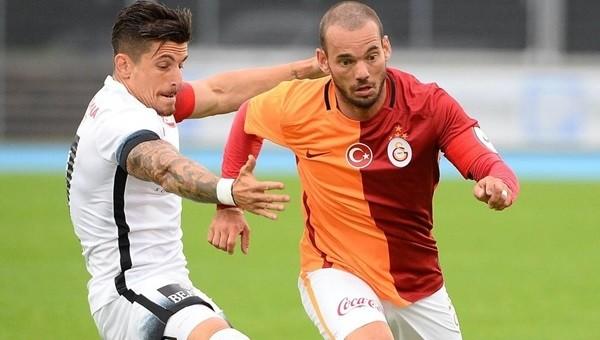 Wesley Sneijder'e kilo tepkisi (Galatasaray - Thun hazırlık maçı)