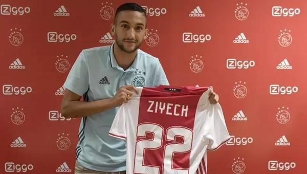 Hakim Ziyech resmen Ajax'ta Bonservisi...