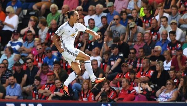 Ibrahimovic Premier Lig'de de ilk maçında gol attı