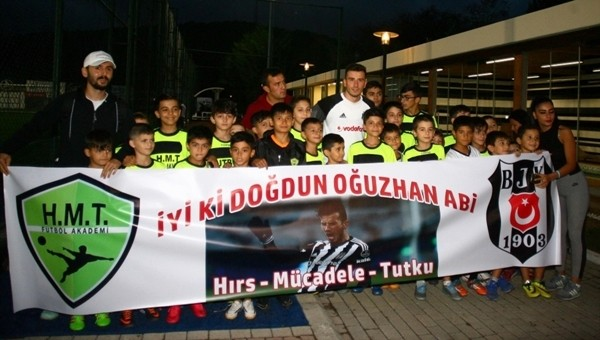Beşiktaş antrenmanında Oğuzhan Özyakup'a büyük sürpriz