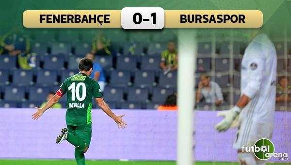 Fenerbahçe evinde yıkıldı! Fenerbahçe 0-1 Bursaspor maçın özeti ve golü
