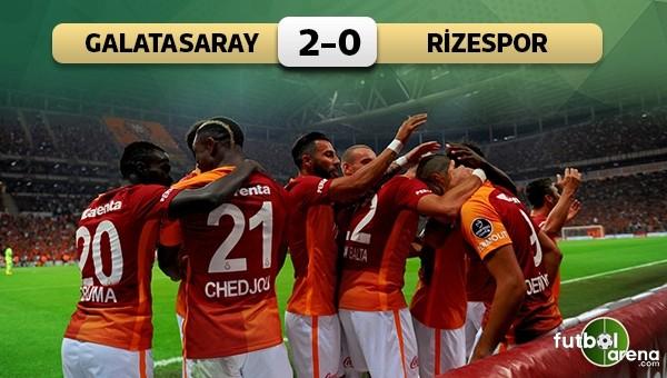 Galatasaray, Eren ile 3 puana uzandı! Galatasaray 2 - 0 Çaykur Rizespor maçın özeti ve golleri