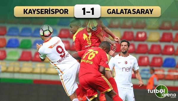 Kayseri'de kazanan yok! Kayserispor 1 - 1 Galatasaray maçın özeti ve golleri