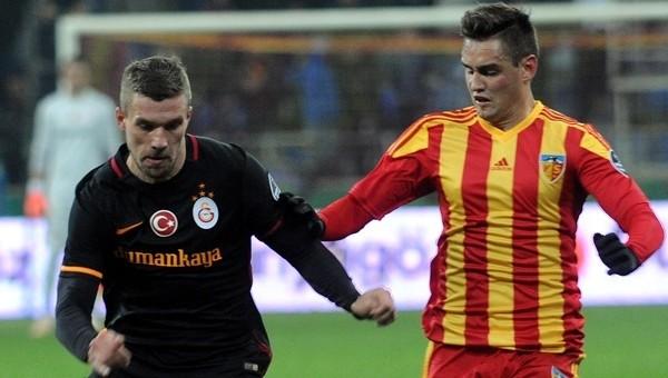 Kayserispor, Galatasaray'a karşı zorlanıyor