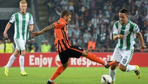 Konyaspor Shakhtar Donetsk'e direnemedi