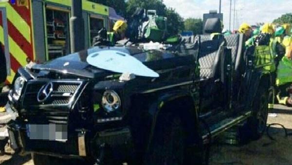 Savunma oyuncusu trafik kazası geçirdi