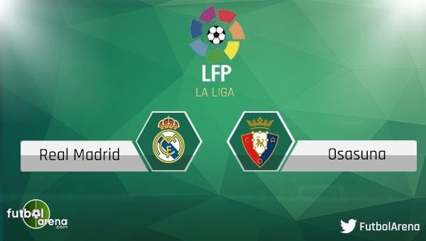 Real Madrid - Osasuna maçı saat kaçta, hangi kanalda?