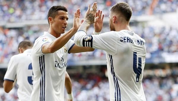 Ronaldo golle döndü Real Madrid 5'ledi