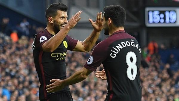 Manchester City, İlkay Gündoğan ve Agüero iş birliği ile kazandı