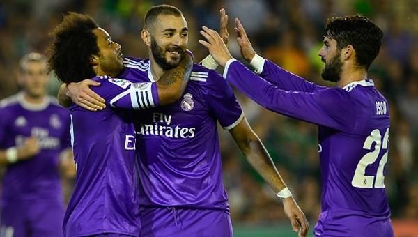 Real Madrid, beraberliklerin acısını Betis'ten çıkardı