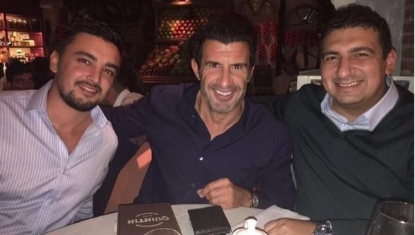 Antalyaspor başkanı Figo'yla yemekte