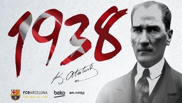 Barcelona'dan Türkçe 10 Kasım mesajı