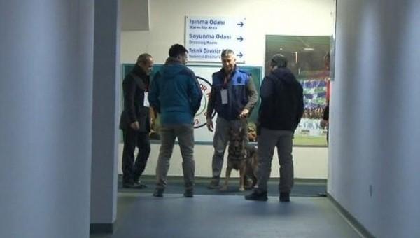 Fenerbahçe soyunma odasında bomba araması