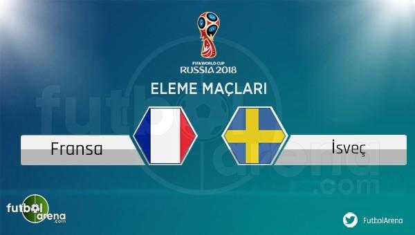 Fransa - İsveç maçı saat kaçta, hangi kanalda?