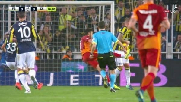 Galatasaraylı futbolculardan penaltı itirazı
