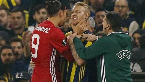 Ibrahimovic ile Kjaer arasında kavga