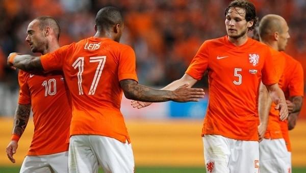 Sneijder ve Lens, Hollanda Milli Takımı'nda