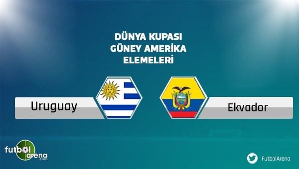 Uruguay - Ekvator maçı saat kaçta, hangi kanalda?