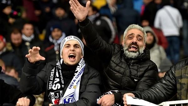 Beşiktaş ve Dinamo Kiev taraftarı birbirine girdi