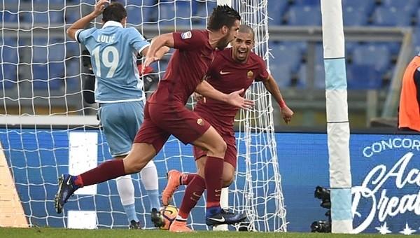 Lazio 0 - 2 Roma maçı özeti ve golleri