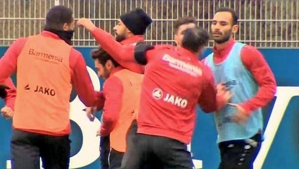 Eski Beşiktaşlı idmanda kavga etti
