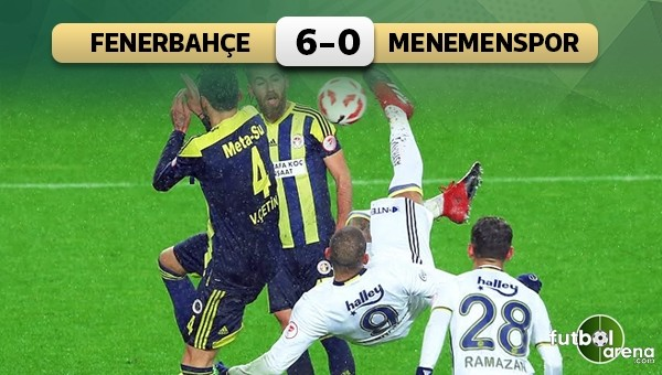 Fenerbahçe, Menemen Belediyespor'a gol yağdırdı
