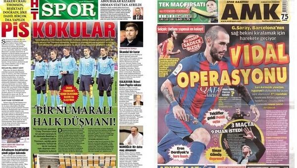 Gazete manşetleri - Gazete Oku (8 Aralık 2016)