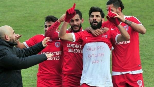 Sancaktepe'li futbolcudan 'Halep' mesajı