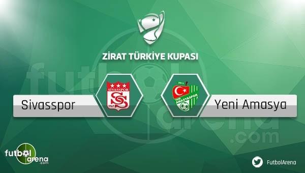 Sivasspor - Yeni Amasyaspor maçı saat kaçta, hangi kanalda?