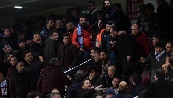 Trabzon'da yöneticilerle taraftarlar arasında tartışma