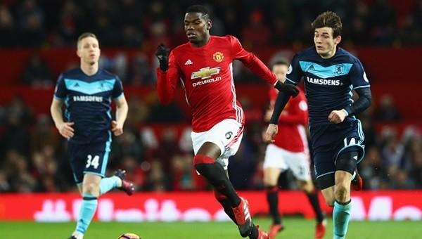 Manchester United - Middlesbrough maçı özeti ve golleri