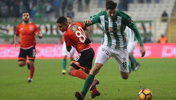 Bursaspor 0 - 1 Adanaspor maçı özeti ve golleri