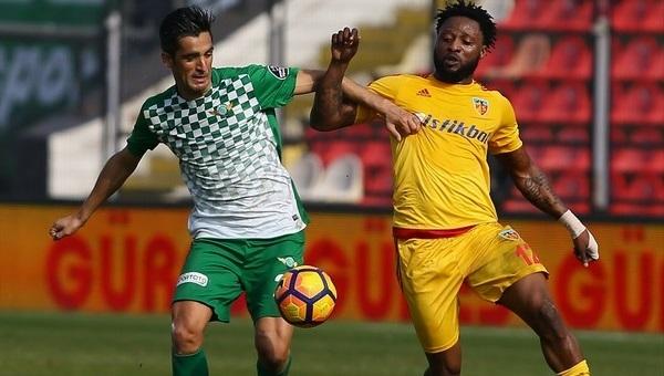 Akhisar Belediyespor 0-0 Kayserispor maç özeti ve golleri
