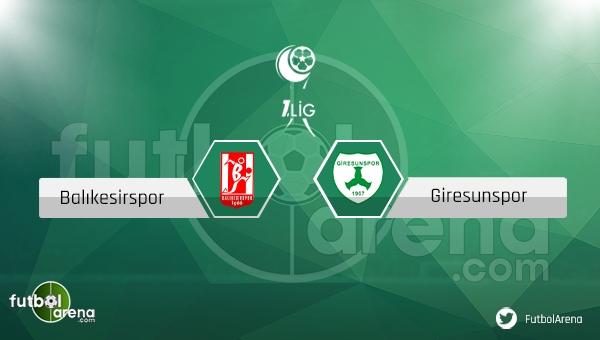 Balıkesirspor - Giresunspor maçı saat kaçta, hangi kanalda?