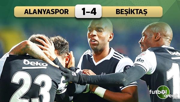 Alanyaspor 1-4 Beşiktaş maç özeti ve golleri
