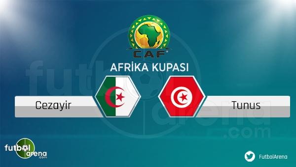 Cezayir - Tunus maçı saat kaçta, hangi kanalda?