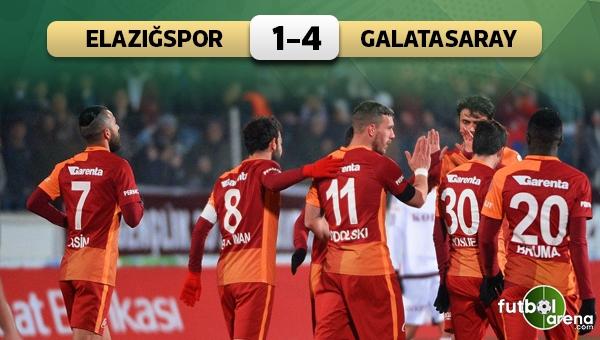 Elazığspor - Galatasaray maçı özeti ve golleri