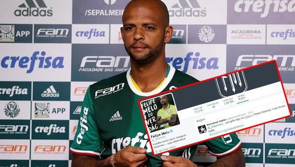 Felipe Melo, Volkan Demirel'e küfürlü tweeti beğendi